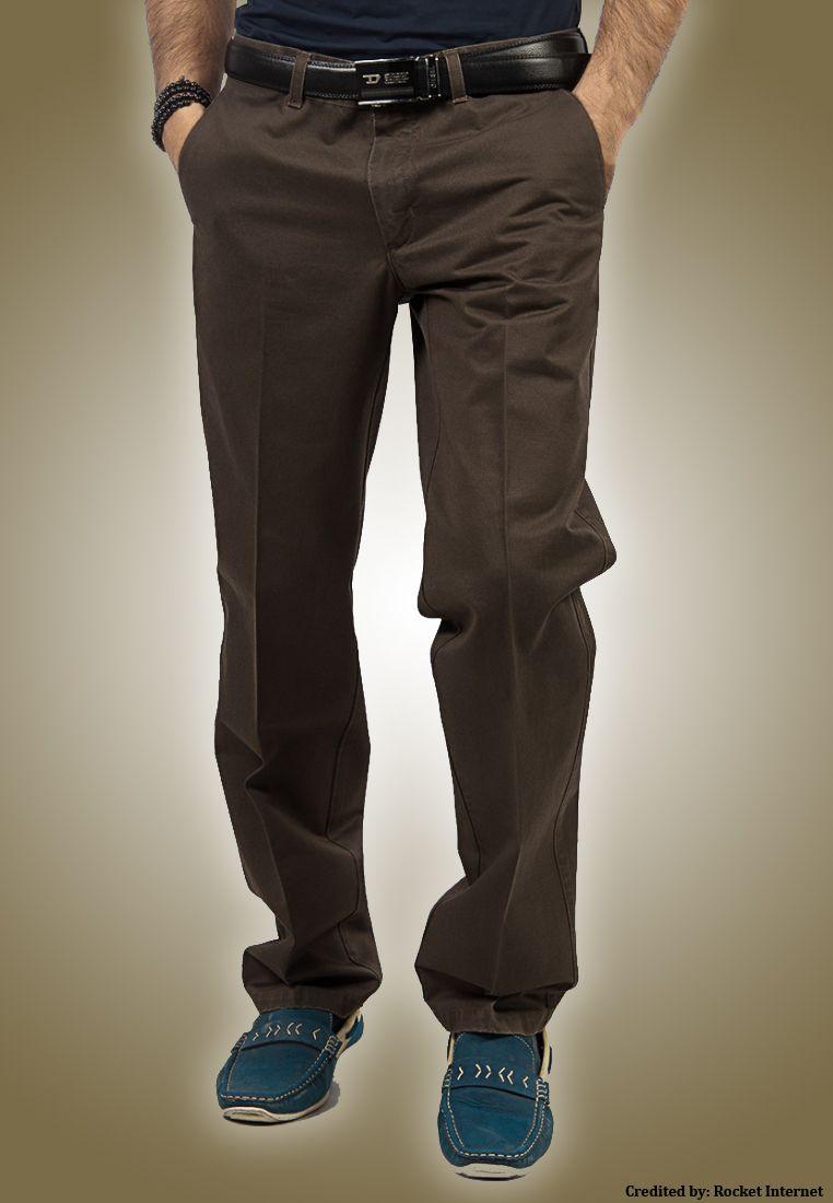"""Bien Habille IRONEEZEE Deep Mahagony """"Smart Fit"""" Wrinkle Free 100% Cotton Trouser Permanent Crease #men #style #fashion #menswear #Pants #Jeans #trousers #onlinemela www.onlinemela.pk Order Now: +92-334-333-6352"""