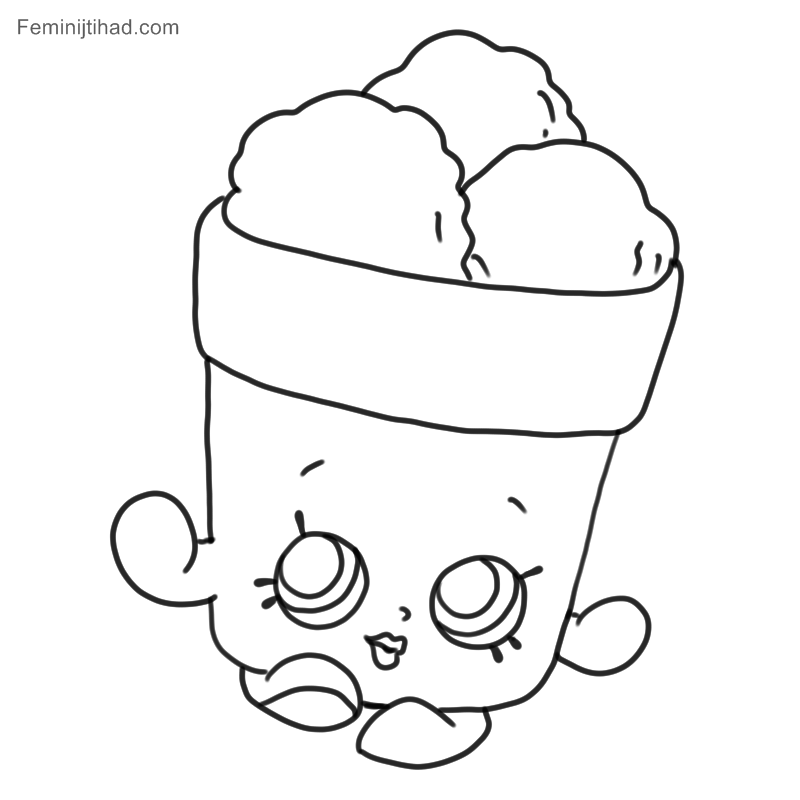 Free Shopkins Coloring Pages Printable (With images)   Shopkins ...