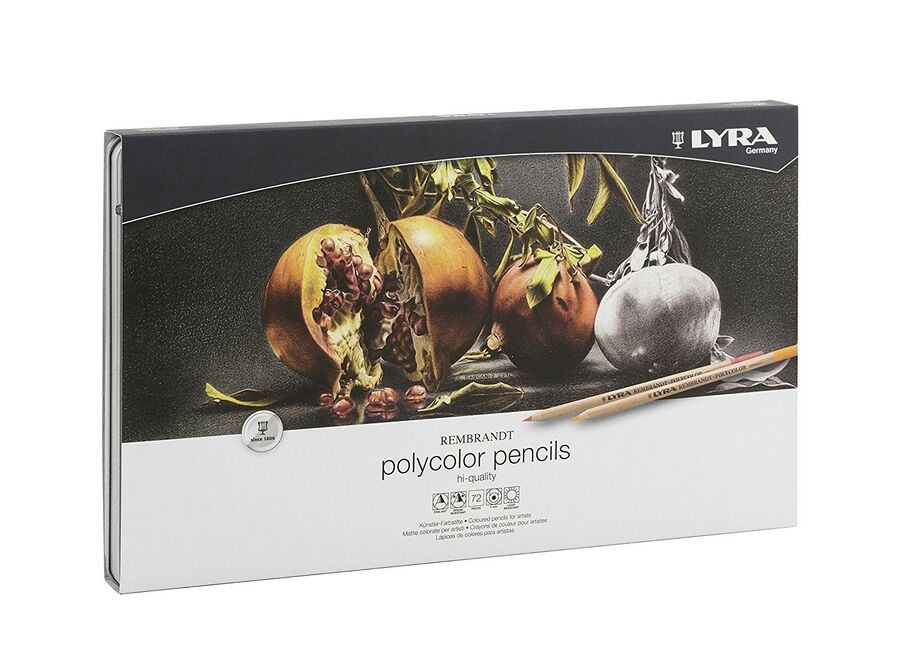 Coloured Pencils Polycolor Rembrandt Lyra 72 Colours In Gift Box
