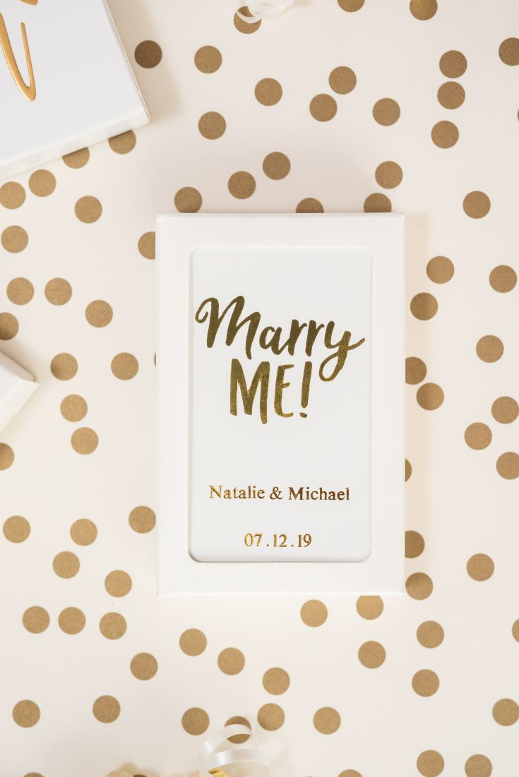 These personalized gold foil stamped playing cards with a \