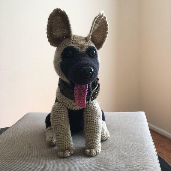 Amigurumi Dog Fur : Pastor Aleman de ganchillo Pastor, Crochet perro y ...