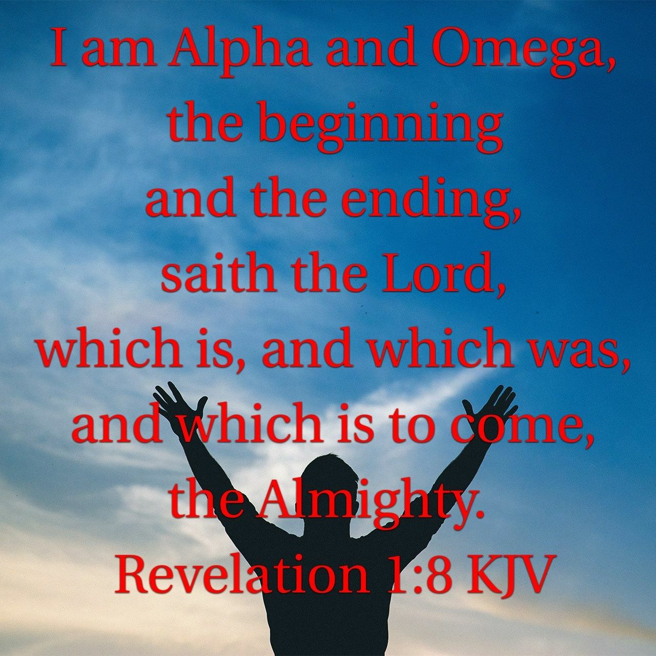 Revelation 1 8 Kjv Trust God Abba Father Son Of God