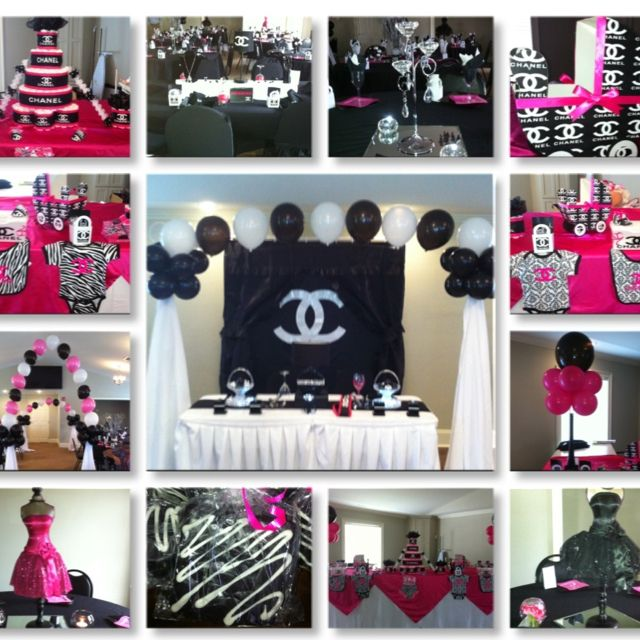 Chanel Theme Baby Shower Pinteres
