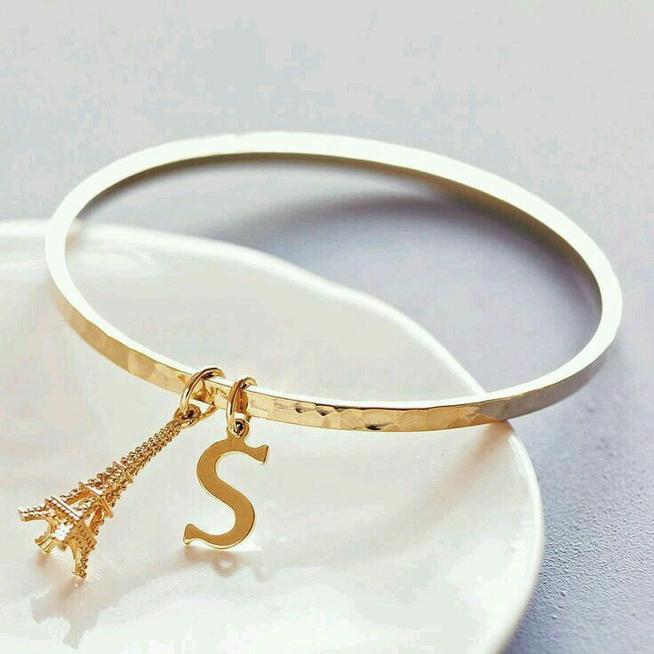Pin By S Jafarova On Alphabates Gold Bangles Stylish Jewelry Beautiful Jewelry