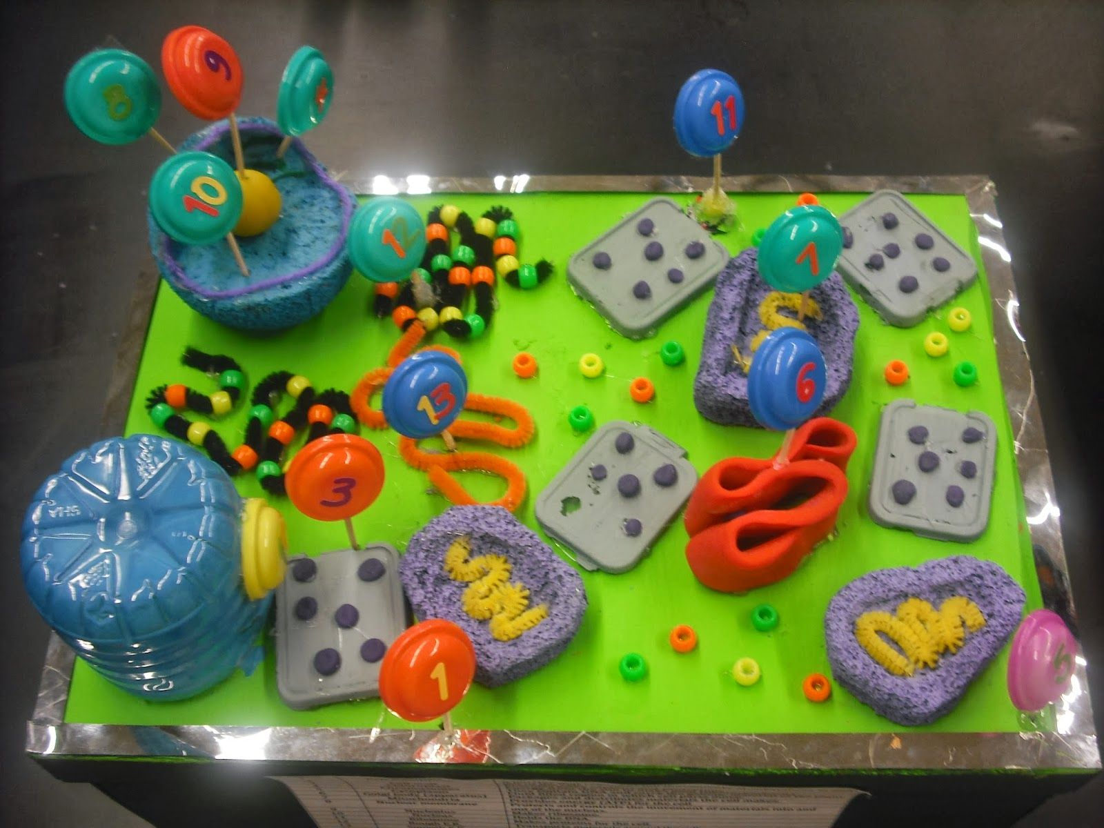 Animal and Plant cell models by Mr. Lalata's 7th/8th grade
