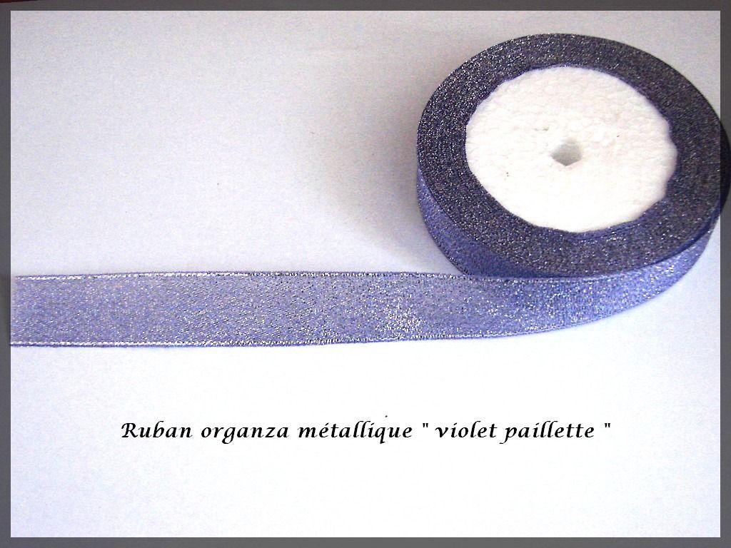Ruban organza paillette fil métallique couleur violette glitter : Rubans par lapetiteboutiquepourlescreatifs