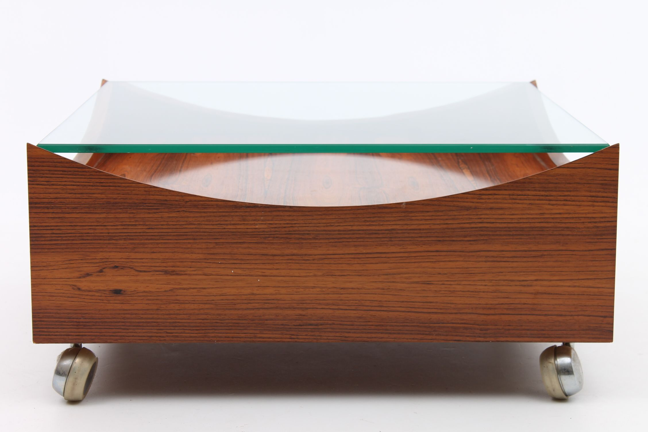 Low Coffee Table In Rosewood With Wheels And Glass Top Designed By Henry W Klein And Manufactured By Bramin Mobler Denmark Www Remodern Dk Mobler [ 1504 x 2256 Pixel ]