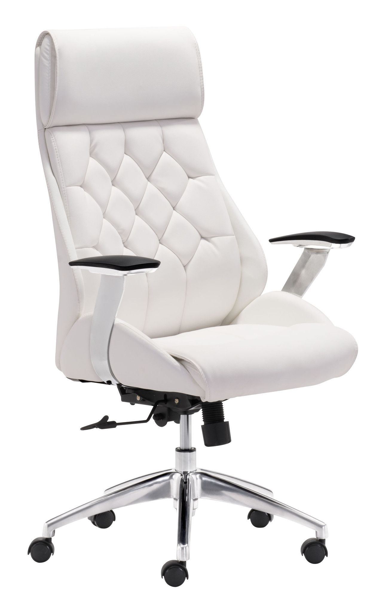With its ergonomic shape diamond tufted back and form fitting