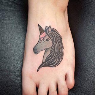 Ice cream cone, unicorn horn, same delightful difference: | 20 Magical Unicorn Tattoos