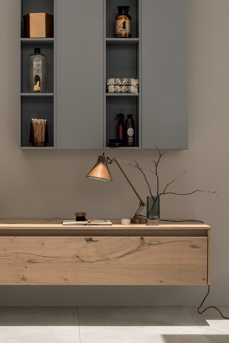 Baño completo de madera maciza 21 ROVERE NODATO by RAB Arredobagno ...