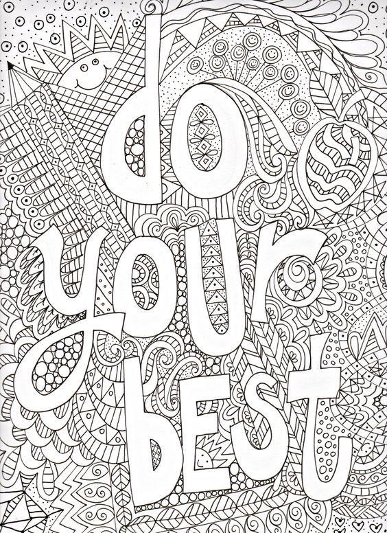 Coloriages Mots Et Pensees Positives En Anglais Coloriage Livre
