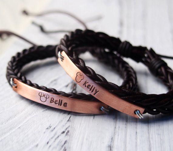 0b6a1c30e Custom Couples Gifts, Customized Couples gifts, Couple bracelets, Personalized  bracelet, Braid leath