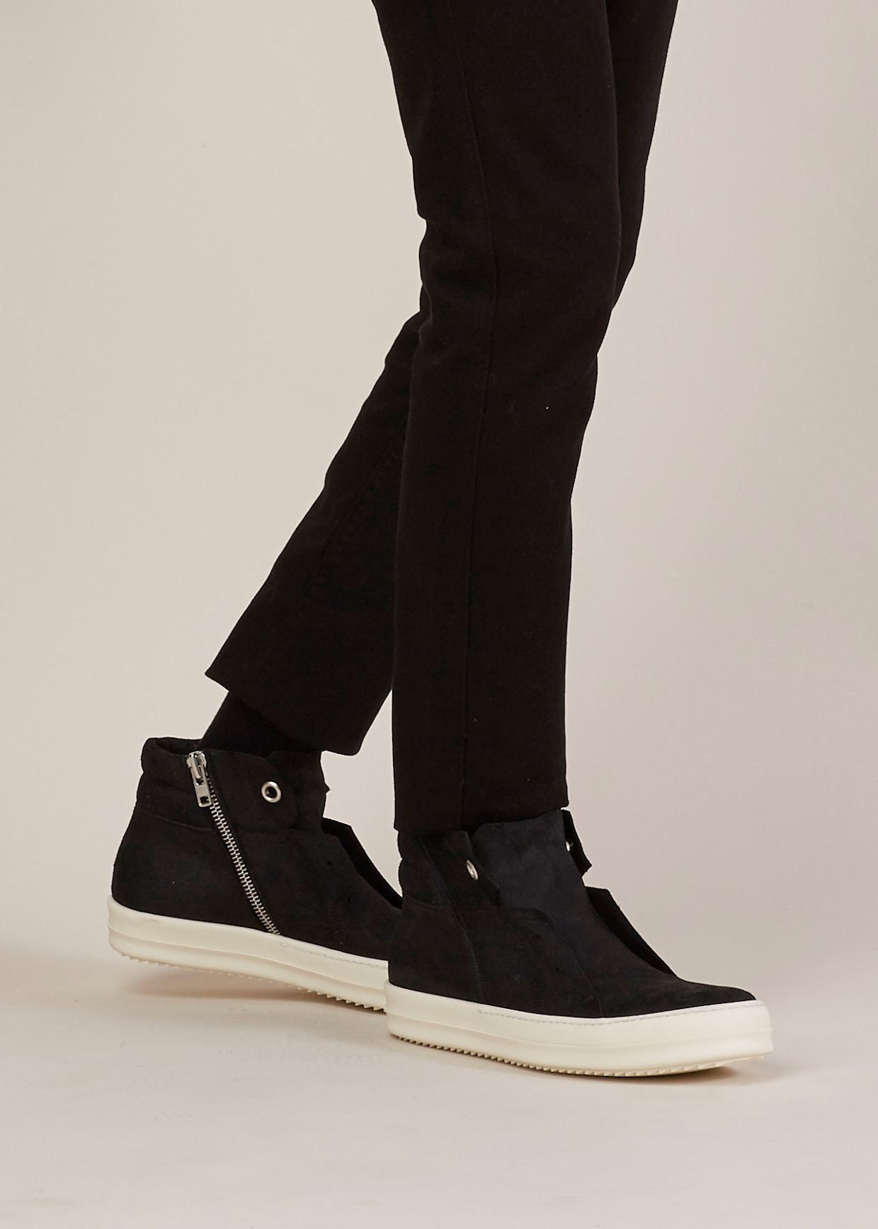 Black Island Dunk High-Top Sneakers Rick Owens