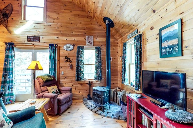 Secluded Log Cabin Tucked Away in the Woods in Greenville
