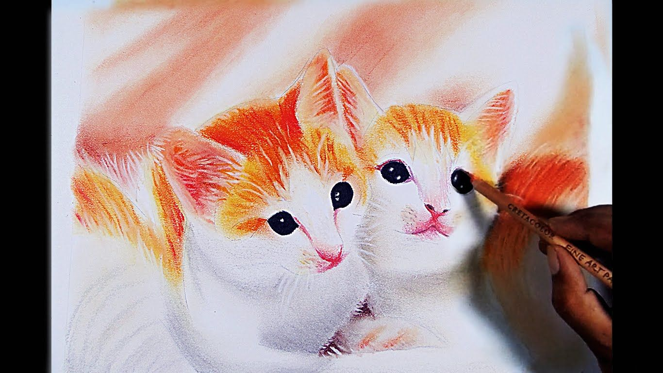 Cats Drawing -- Mungyo gallery artists Soft Pastels. | UTILE | Pinterest