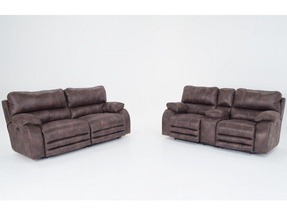 Allen Power Reclining Sofa Console Loveseat With Power Headrest Power Reclining Sofa Power Recliners Love Seat