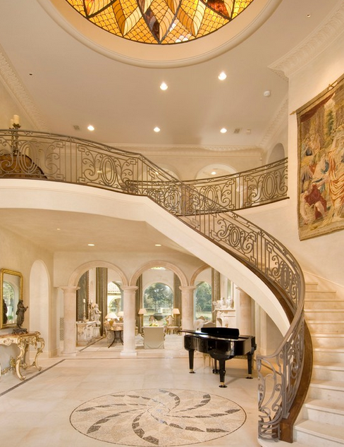 Stunning Mediterranean Mansion In Houston Tx Built By Sims Luxury Builders Homes Of The Rich The Web S 1 Luxury Staircase Mediterranean Mansion Mansions