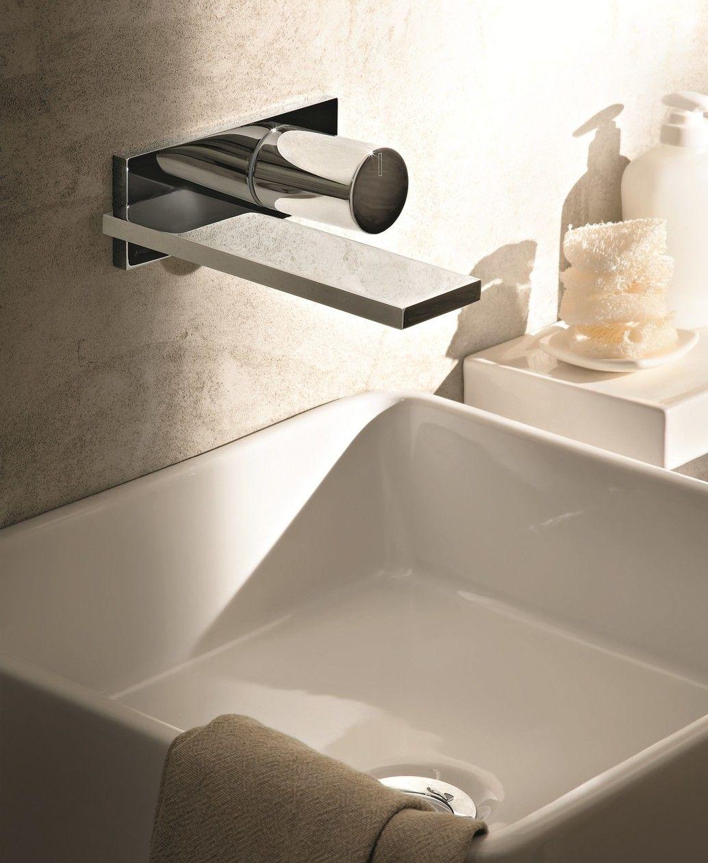 Mitigeur lavabo mural avec plaque MILANO D113A E513B by Fantini
