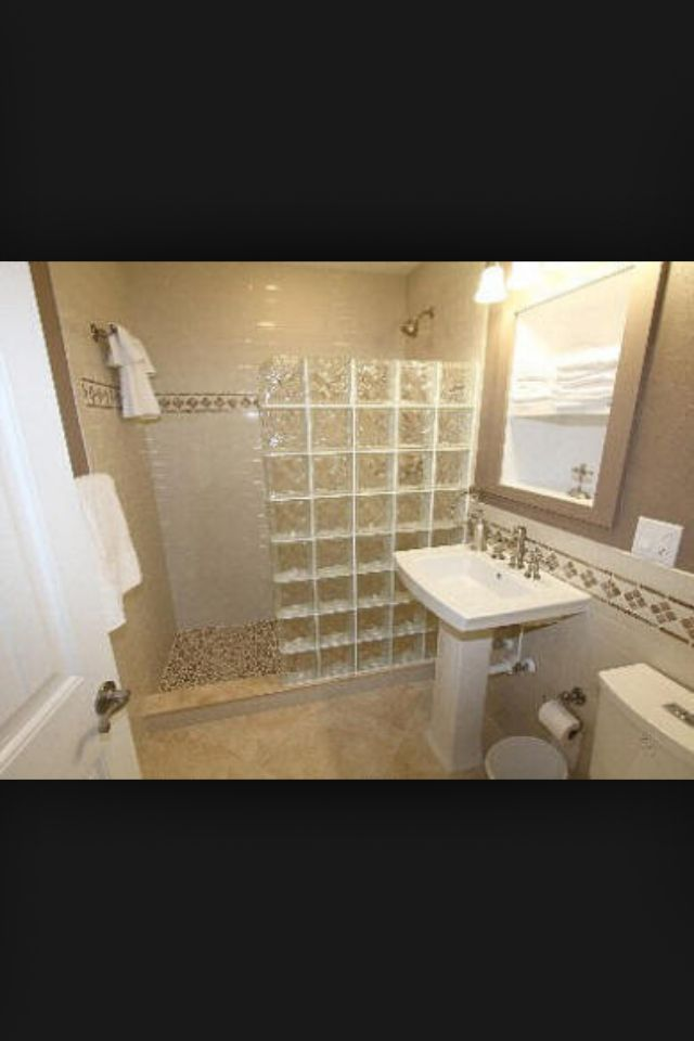 Glass Blocks And Small Bathroom Bathrooms Pinterest Glass - Glass block showers small bathrooms