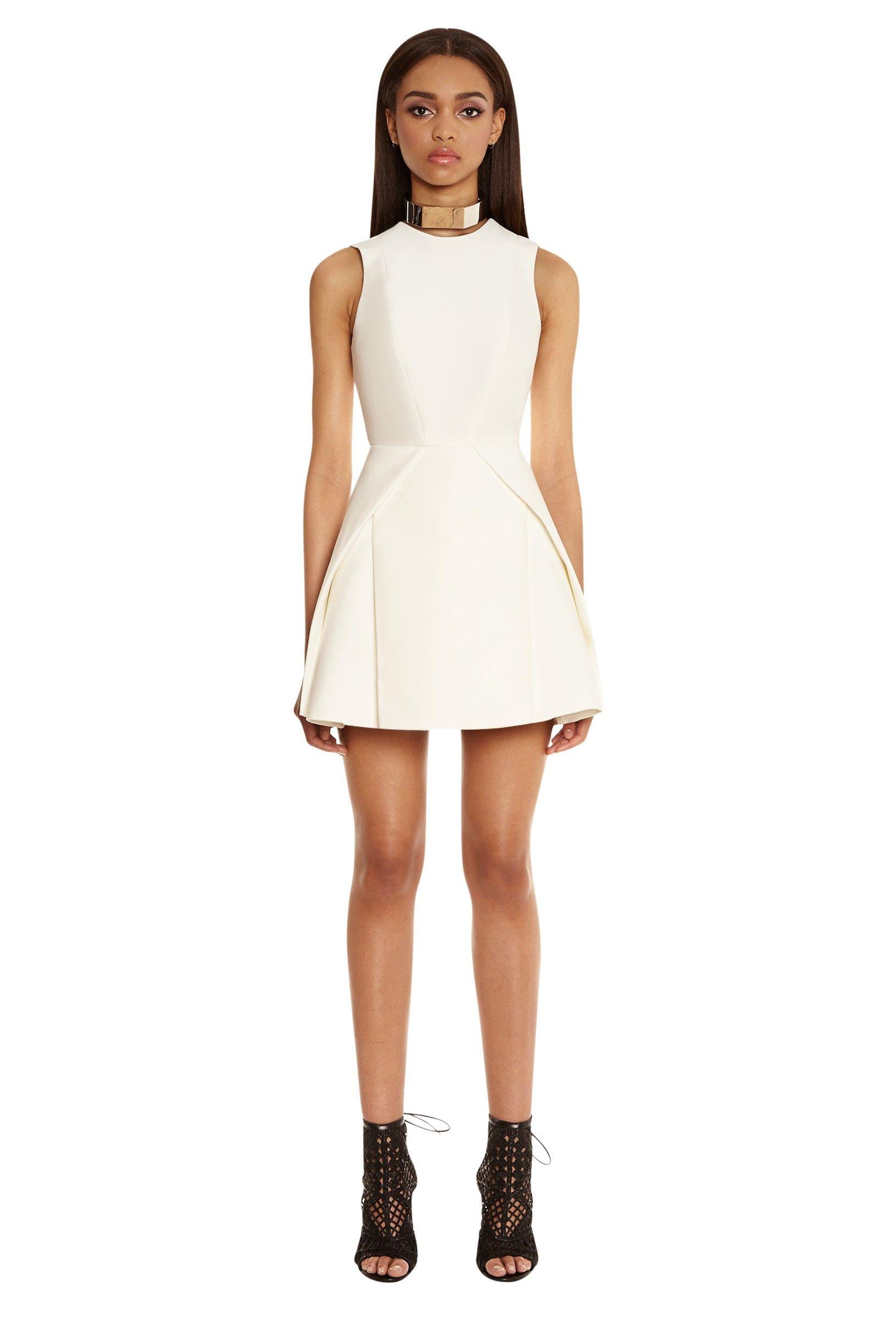 Mesha Structured Mini Dress - Cream | WANT!!!! | Pinterest | Full ...