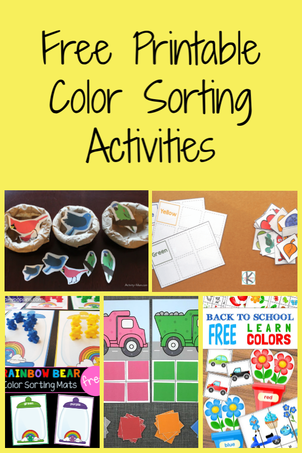 Free Printable Sorting Activities - The Activity Mom Color Sorting  Activities, Sorting Activities, Kids Learning Activities