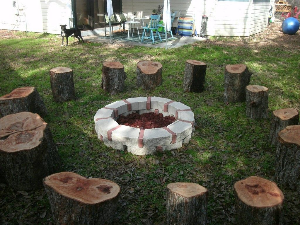 10 Awesome Tree Stump Fire Pit Seating Ideas Go Travels Plan Outdoor Fire Pit Designs Stump Fire Pit Fire Pit Seating