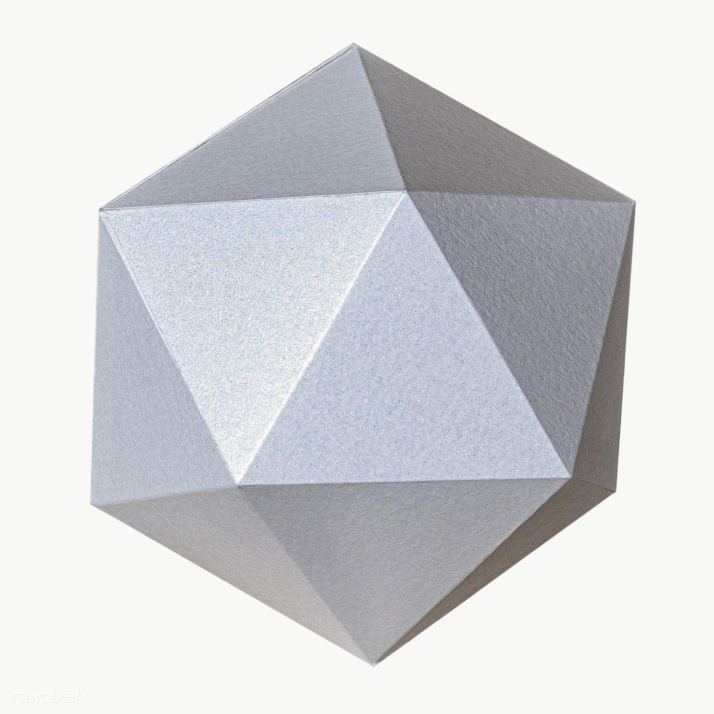 3d Gray Pentagon Paper Craft Design Element Free Image By Rawpixel Com Jira Paper Crafts Design Element Design Crafts