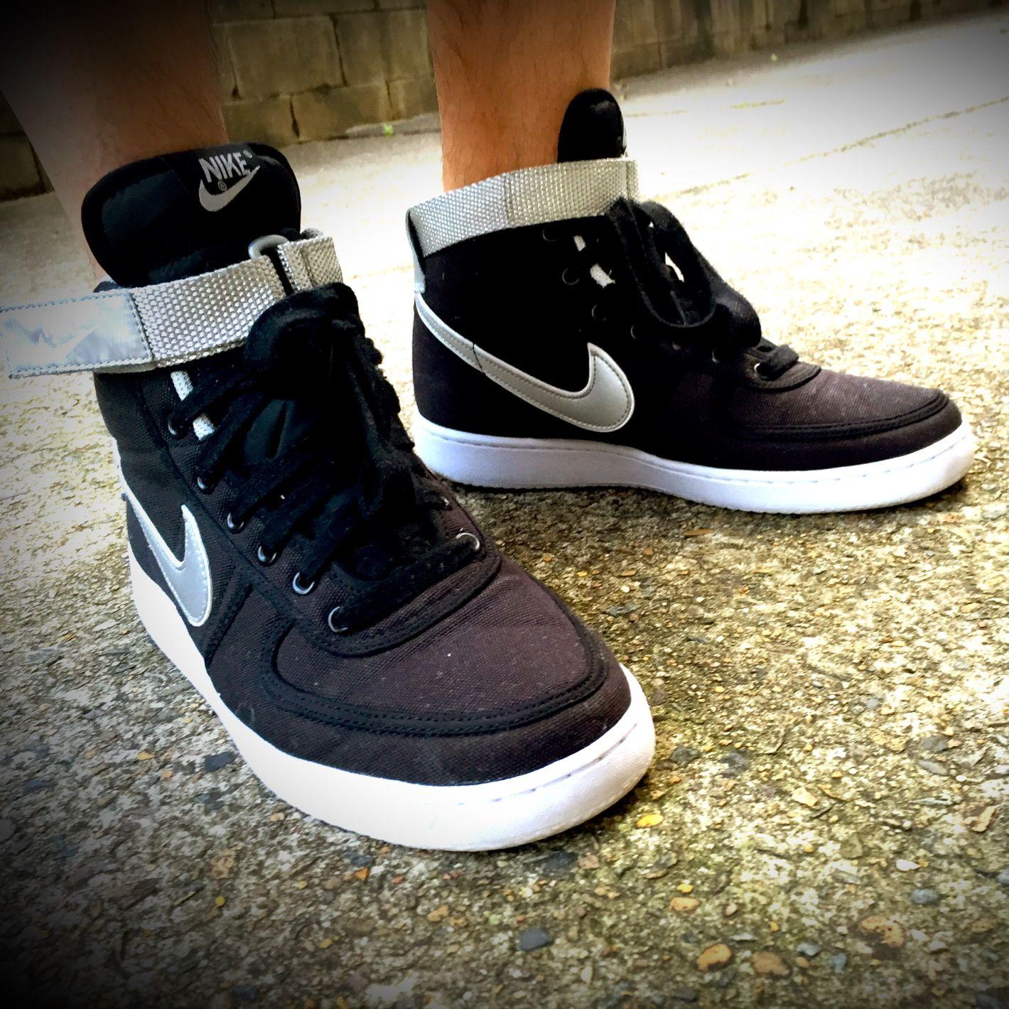 NikeLab Vandal Mid Canvas: Black/Silver
