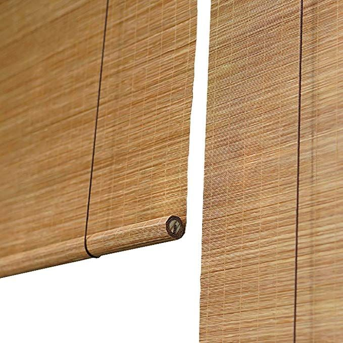 Roller Shades Bamboo Roll Up Blinds with Hooks