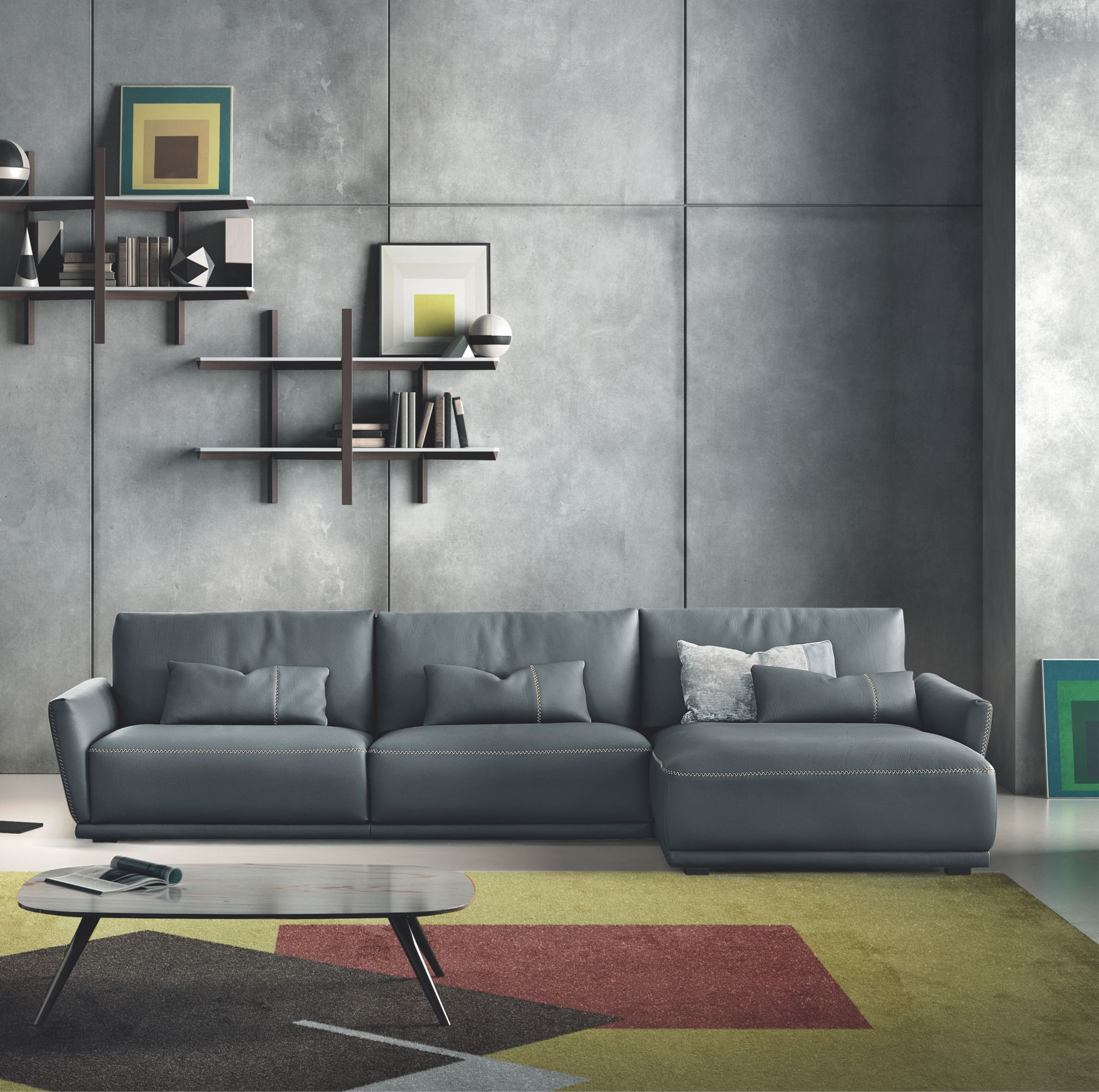 Contemporary Sectional: Victor Modern Sofa Sectional By Gamma Arredamenti, Italy