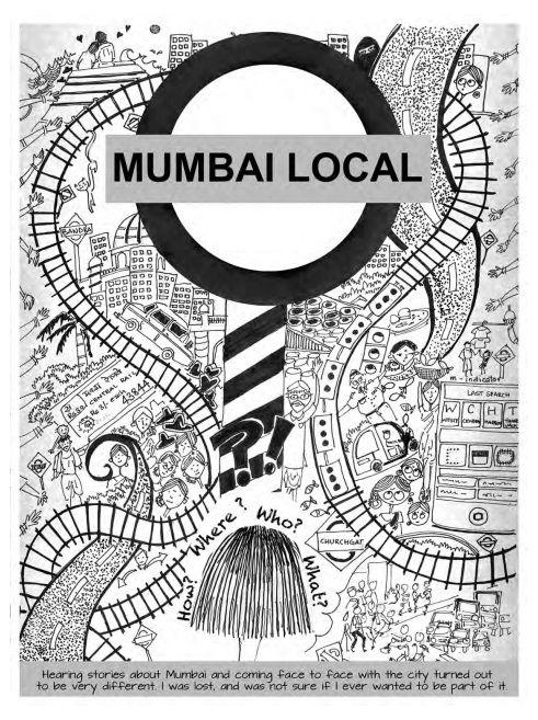 Mumbai Local Doodle art, Illustrated map, Space illustration