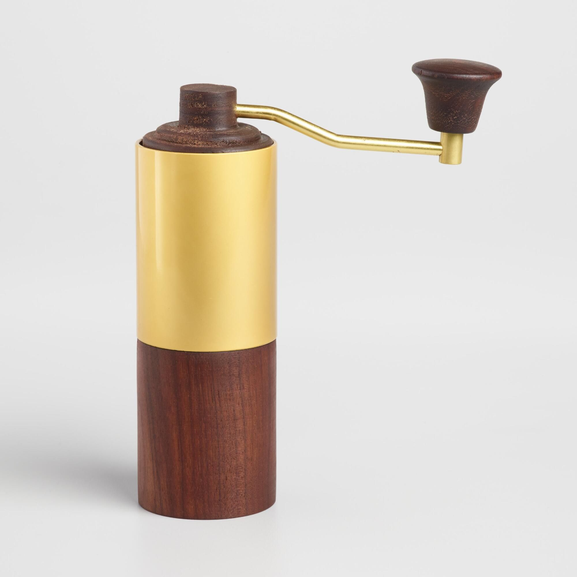 Walnut Wood Manual Coffee Grinder With Gold Handle By World Market Coffee Grinder Ideas Of Coffee In 2020 Manual Coffee Grinder Coffee Grinder Best Coffee Grinder
