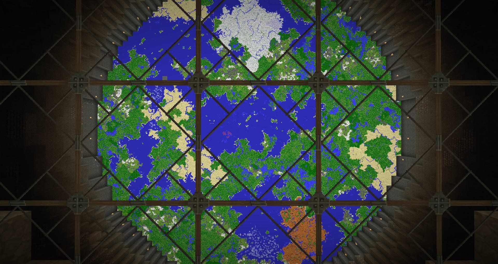 My Dad\'s Map room, version 2.0 : Minecraft | Minecraft Inspiration ...