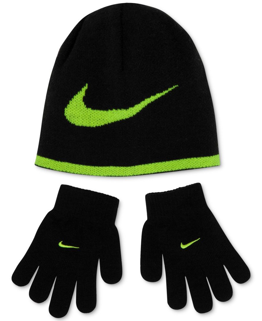 Nike Boys  Reversible Beanie   Gloves Set  c1d93c435b13