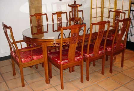 Beautiful Rosewood Bird Flower Oval Dining Set | Rosewood Dining Furniture | Rosewood  Dining Sets | Rosewood Chairs | Rosewood Table | Chinese | Asian | Oriental  ...