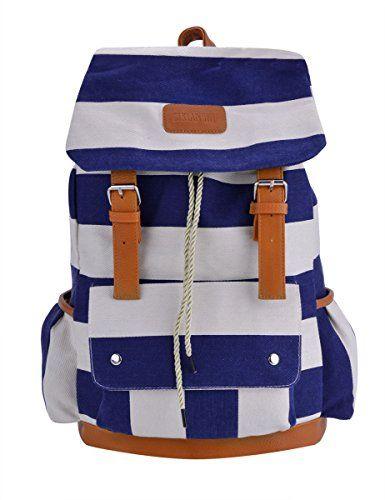 Nuova offerta in #abbigliamento : Coofit Donne Canvas Shoulder Bag Zainetto Retrò Strisce Viaggio Tempo Libero Zaino a soli 1751 EUR. Affrettati! hai tempo solo fino a 2016-11-09 23:40:00