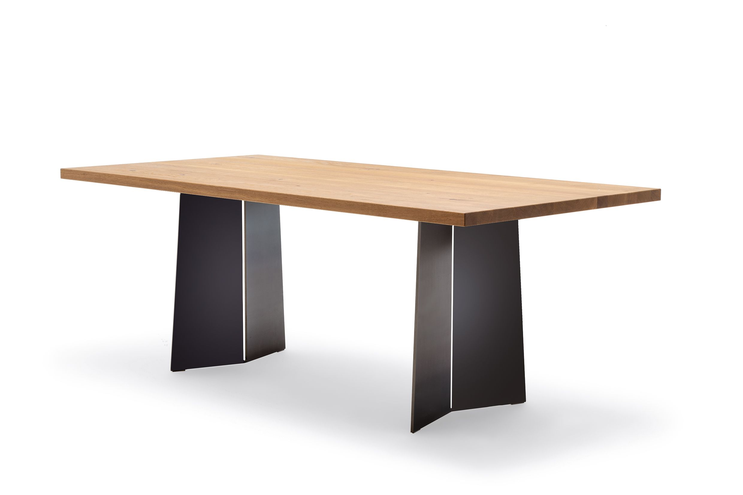 Rolf Benz Couchtisch 8440 Rolf Benz 969 Dining Table With Solid Oak Top And Steel Base