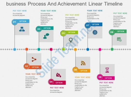 Business Process And Achievement Linear Timeline Flat Powerpoint Design Slide01 Powerpoint Templates Powerpoint Powerpoint Design