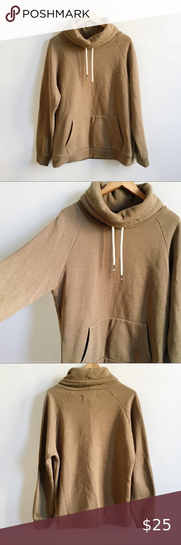 F21 Men Brown Cowl Neck Pullover Hoodie Sweatshirt Sweatshirts Hoodie Cowl Neck Pullover Pullover Hoodie [ 1740 x 580 Pixel ]