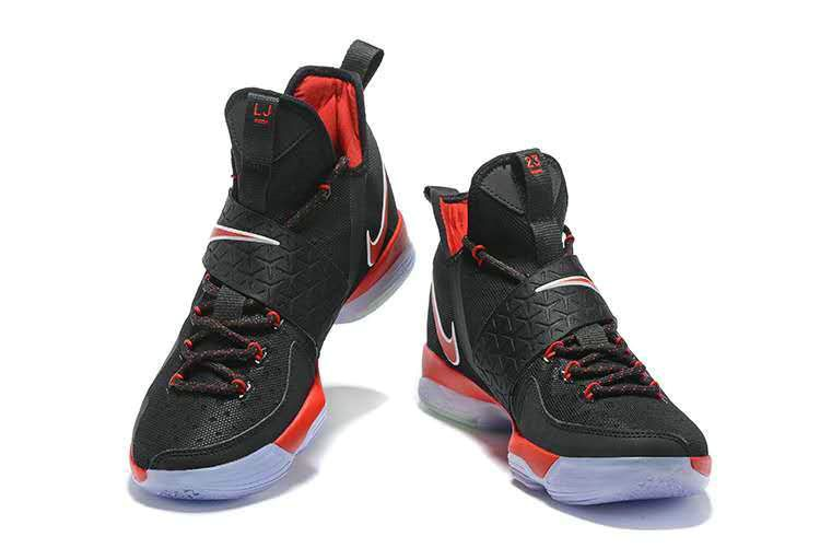 2018 Official LeBron 14 XIV Bred Black University Red 2018 Lebron James  Sneakers 6c0001bb75