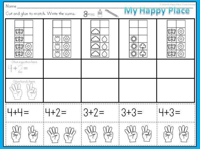 spring math ten frames subitizing activities addition activities subitizing and ten frames. Black Bedroom Furniture Sets. Home Design Ideas