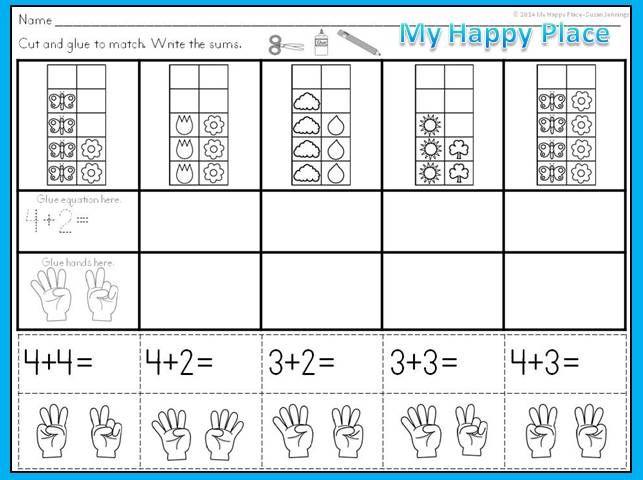 Spring Math - Ten Frames Subitizing Activities | Addition activities ...