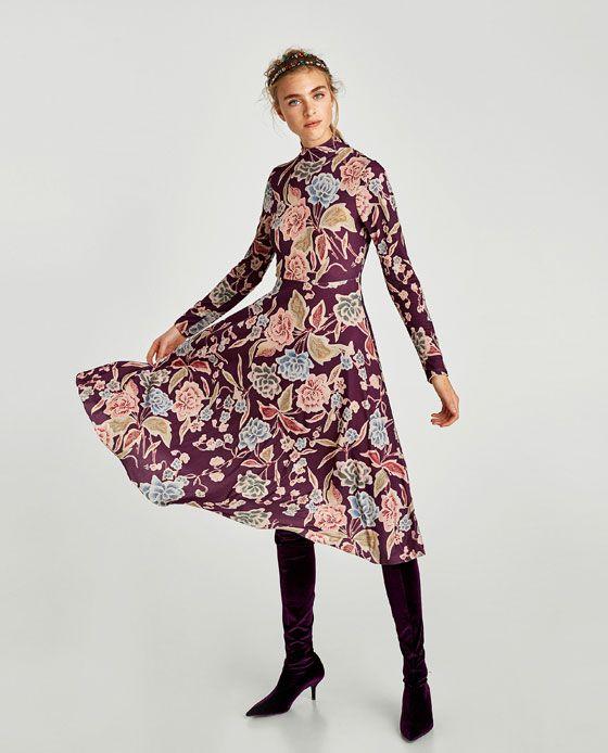 Bild 1 von LANGÄRMLIGES KLEID von Zara | Kleider/ Röcke | Pinterest ...