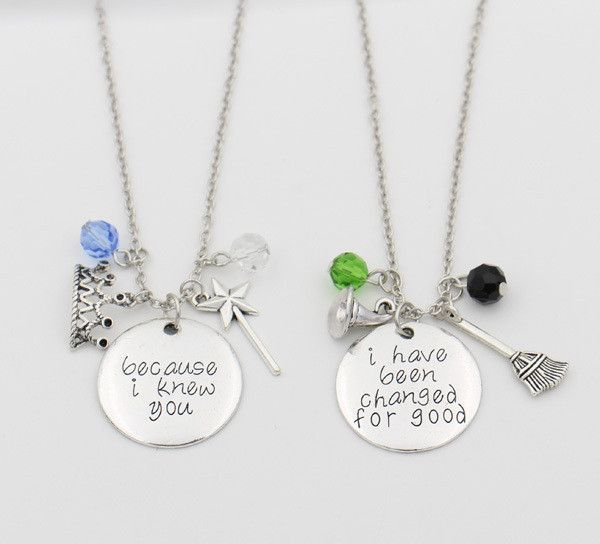 9568946647f If you love WICKED The Musical, this is the perfect necklace to get for you  and your bestie! - Metal: Zinc Alloy (non-irritating and environmentally  safe) ...