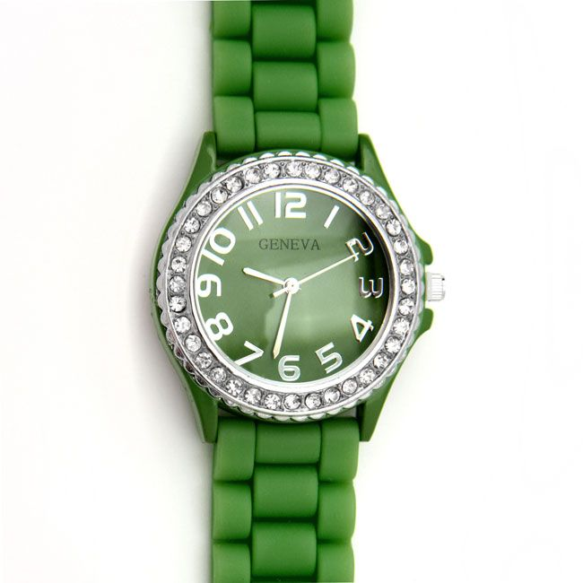 Green Silicone Watch