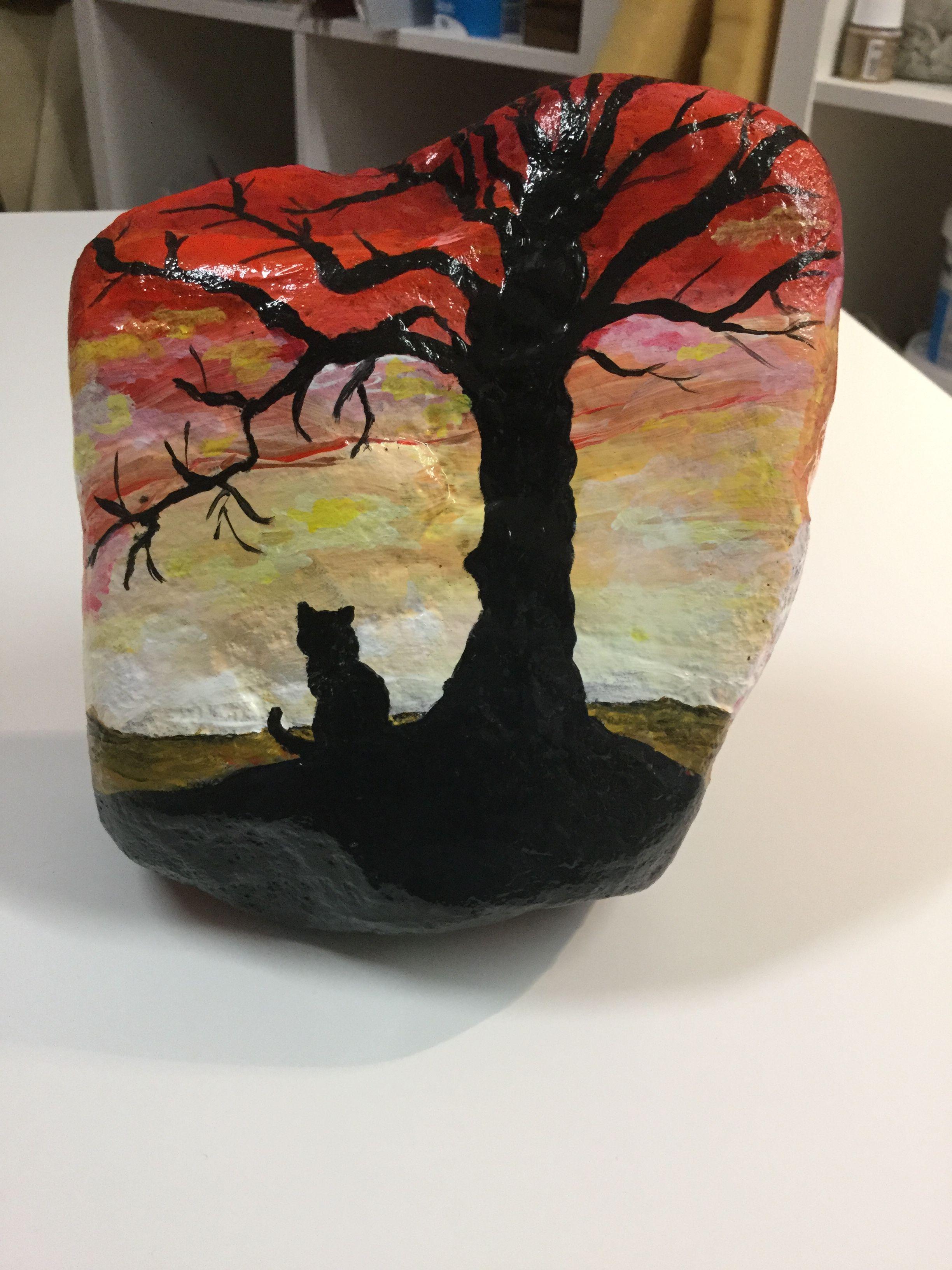 Acryl op steen
