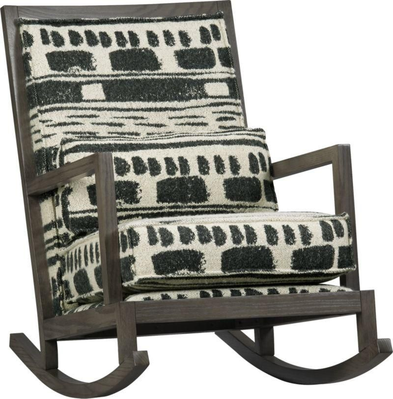 Crate And Barrel Rocking Chair Recliner Stores Jeremiah Fabric Back Rocker Home Furniture Decor