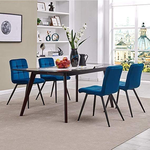amazon  modern velvet dining chairs tufted accent