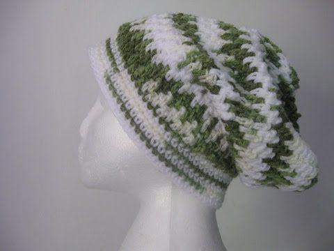 Motor Stitches Crochet Hat Mesh Stitch Brick Stitch Slouch Hat
