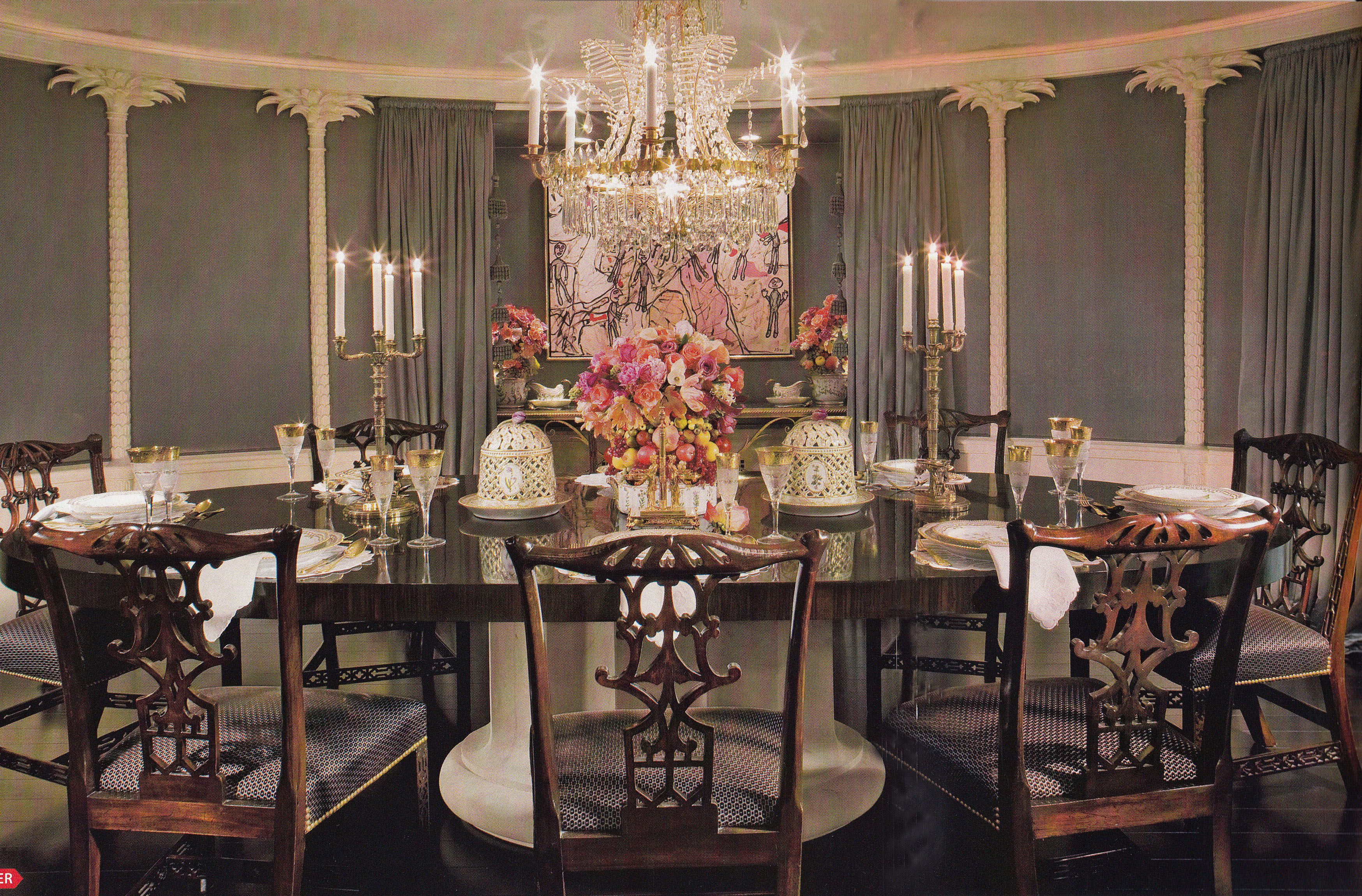 Craig Wright Interior Design 1920 S Beverly Hills Restoration By Architect Richard Manion Architectural Decor Traditional Dining Rooms Glamourous Dining Room